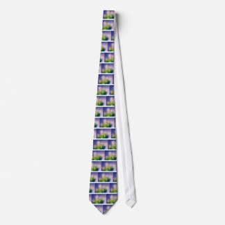 Maiglöckchen-Tanz im Blau Individuelle Krawatte