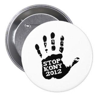 Main de Joseph Kony d'arrêt de Kony 2012 Badges