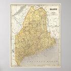 Maine-Atlas-Karte Poster