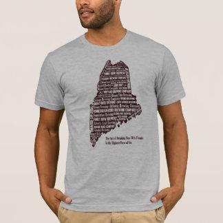 Maine-Bierkarte T-Shirt