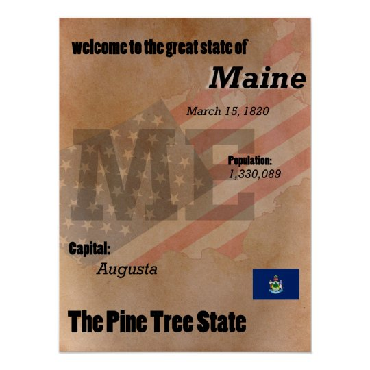 Maine der Kiefern-Baum-Staats-Klassiker Poster
