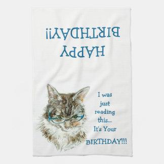 Maine-Waschbär-Katzen-alles Gute zum Küchentuch
