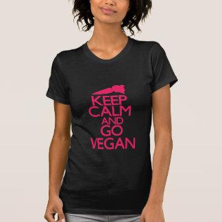 Maintenez calme et allez végétalien t-shirts