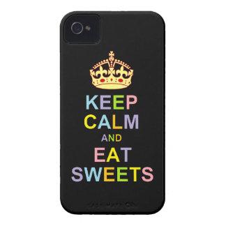 Maintenez calme et mangez les bonbons coque iPhone 4 Case-Mate