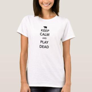 Maintenez le calme et le jeu morts t-shirt