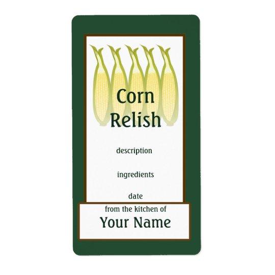 Mais-Geschmack-Konserven-Aufkleber Großer Adressaufkleber