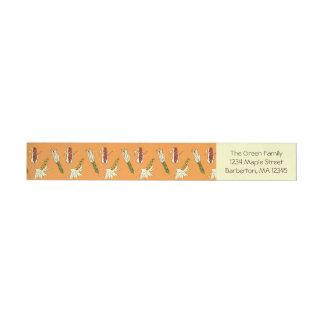 Mais-Hülsen: Orangegelber Rundum-Adressaufkleber