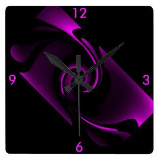 Maison de minuit de l'horloge murale 4 de horloge carrée