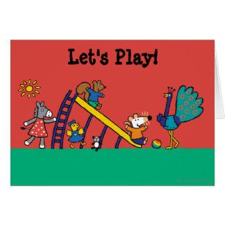 Maisy auf dem Spielplatz mit Freunden Karte