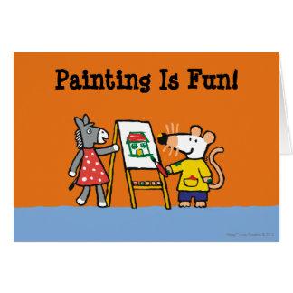 Maisy und Dotty Farbe an der Vorschule Karte