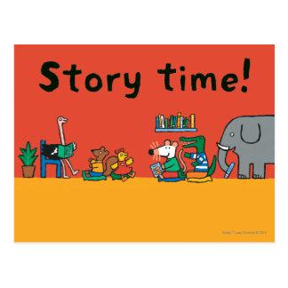 Maisy und Freunde zusammen gelesen Postkarte