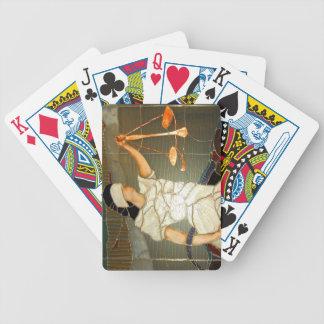 Majestätische Dame Justice im Buntglas-Entwurf Bicycle Spielkarten