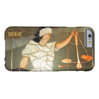Majestätische Dame Justice Portrait im Buntglas Barely There iPhone 6 Hülle