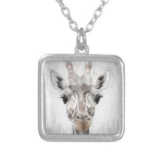 Majestätische Giraffe schilderte produktreiches Versilberte Kette