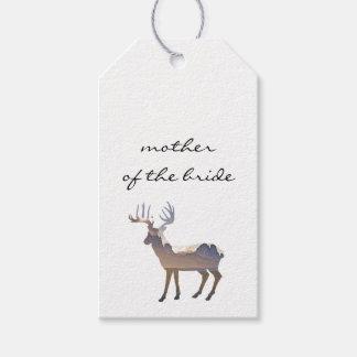 Majestätische Rotwild-Hochzeits-Eskorte-Karte Geschenkanhänger