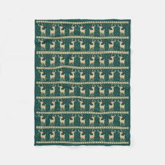 Majestätische Rudolph-WeihnachtsFleece-Decke Fleecedecke