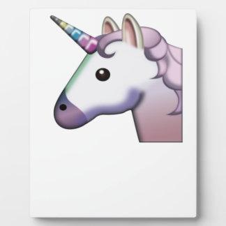 Majestätisches Einhorn Emoji Fotoplatte