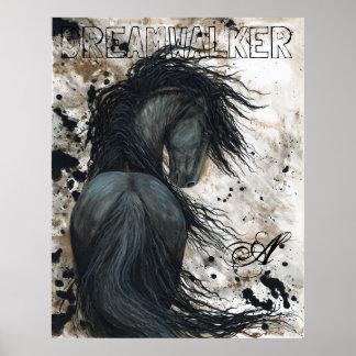 Majestätisches friesisches schwarzes poster