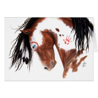 Majestätisches gemaltes Pony-Pferd durch BiHrLe Karte