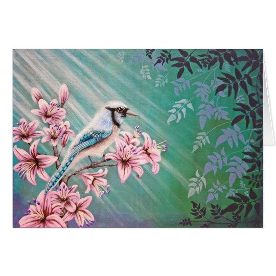 Majestäts-blaue Jay-Vogel-Postkarte Karte