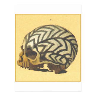 Makaber: Schädel - Neu-Guinea Postkarte
