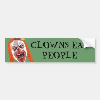 Makaberer Clown Autoaufkleber
