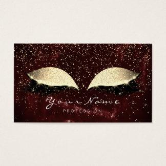 Make-up Burgund Gold peitscht Visitenkarte