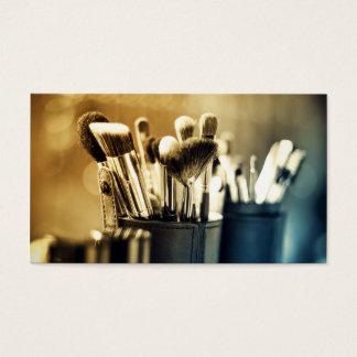 Make-up bürstet Künstler-Designer Visitenkarte