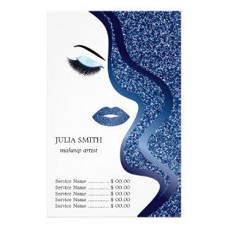 Make-up mit Glittereffekt Flyer