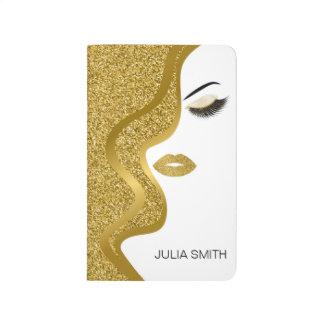 Make-up mit Glittereffekt Taschennotizbuch