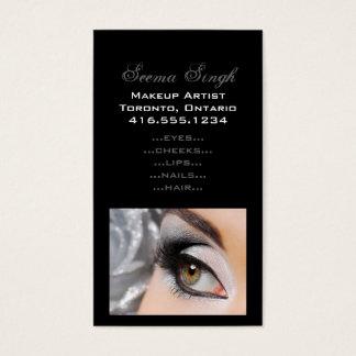 Make-up Smokey Augen-Grau Visitenkarte