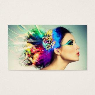Make-up und Haar-Entwurf Visitenkarte