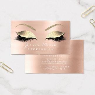 Make-upaugenbraue mustert visitenkarte