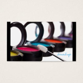 Make-upkosmetische Künstler-Augenschminken Visitenkarte