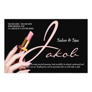 Make-upkünstler-Salon-Wellness-Center nagelt 14 X 21,6 Cm Flyer