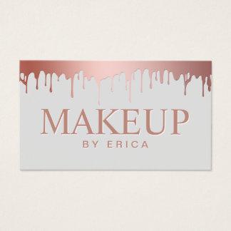 Make-upkünstler-Schönheits-Salon-Rosen-GoldTropfen Visitenkarte