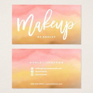 Make-uptypographie boho ombre Aquarell Visitenkarte