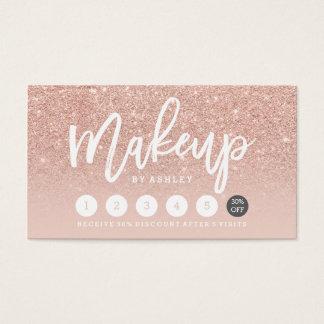 Make-uptypographie erröten Rosengoldlochkarte Visitenkarten