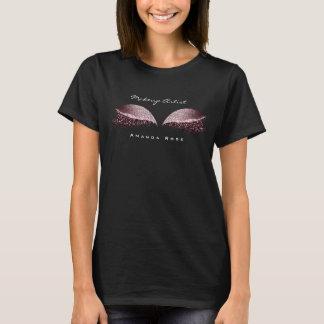 Makeup Artist Beauty Lash Eye Burgundy Glitter T-Shirt