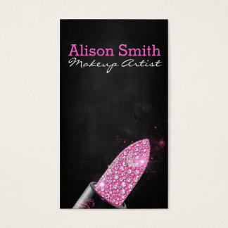 Makeup Artist/Diamonds Lipstick Visitenkarte