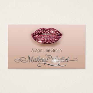 Makeup Artist/Diamonds Sparkle Lips Visitenkarte