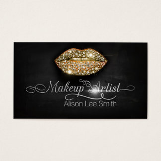 Makeup Artist/Diamonds Sparkle Lips Visitenkarten