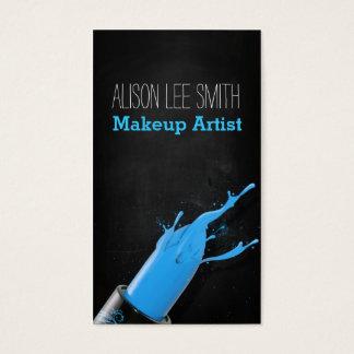 Makeup Artist/Lightblue Lipstick Visitenkarte