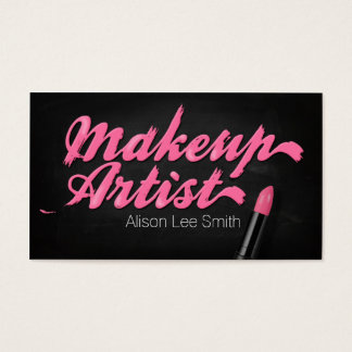 Makeup Artist/Pink Lipstick Visitenkarte