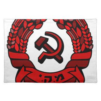 Maki Rakah Israel kommunistisches Partywappen Tisch Sets