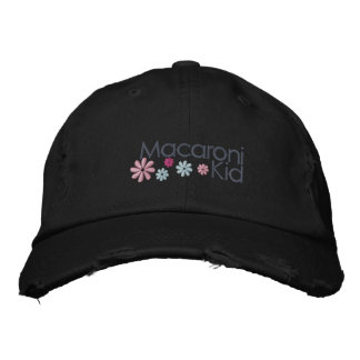 Makkaroni-Kind beunruhigte Kappe Bestickte Kappen
