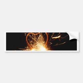 MakroFoto eines brennenden Sparkler in der Form Autoaufkleber