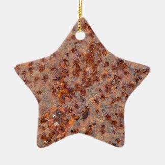 MakroFoto eines rostigen Eisenblattes Keramik Ornament