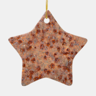MakroFoto eines rostigen Eisenblattes Keramik Stern-Ornament