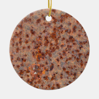 MakroFoto eines rostigen Eisenblattes Rundes Keramik Ornament